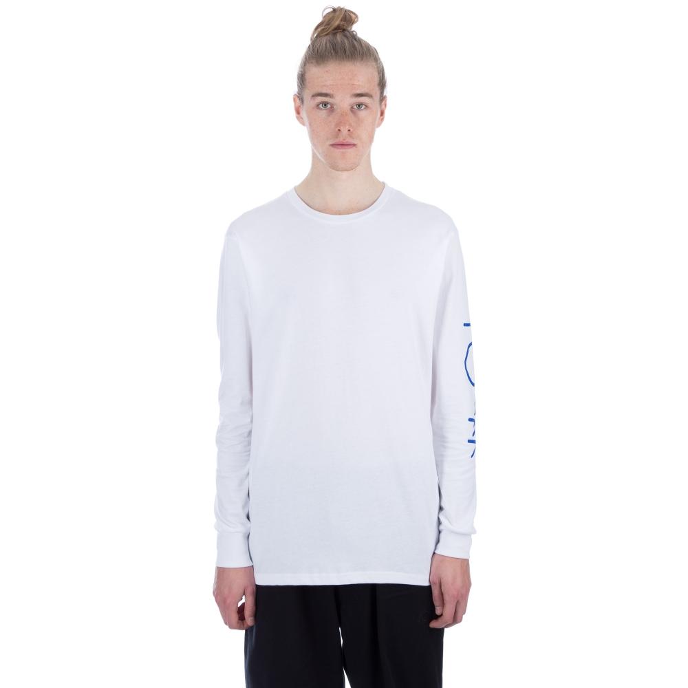 Polar Script Logo Long Sleeve T-Shirt (White)