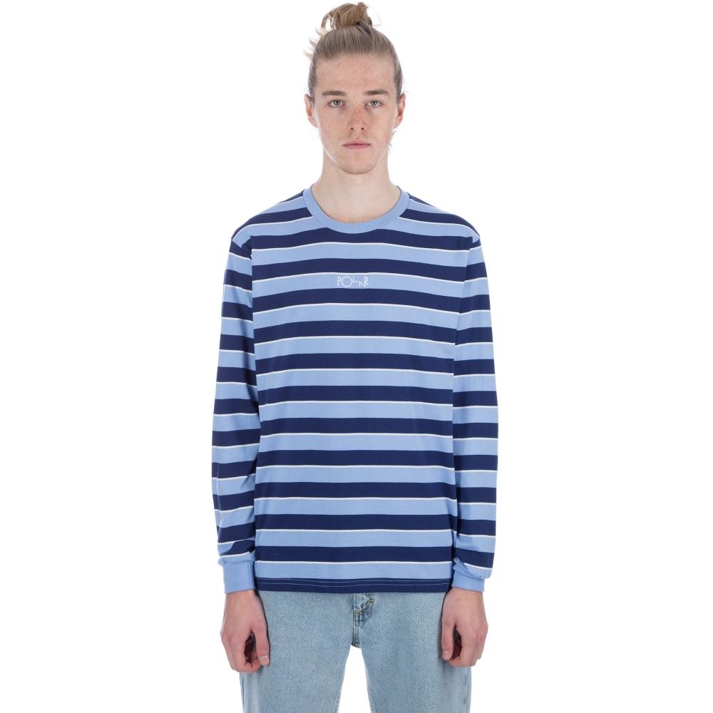 Polar Striped Long Sleeve T-Shirt (Powder Blue/Navy)