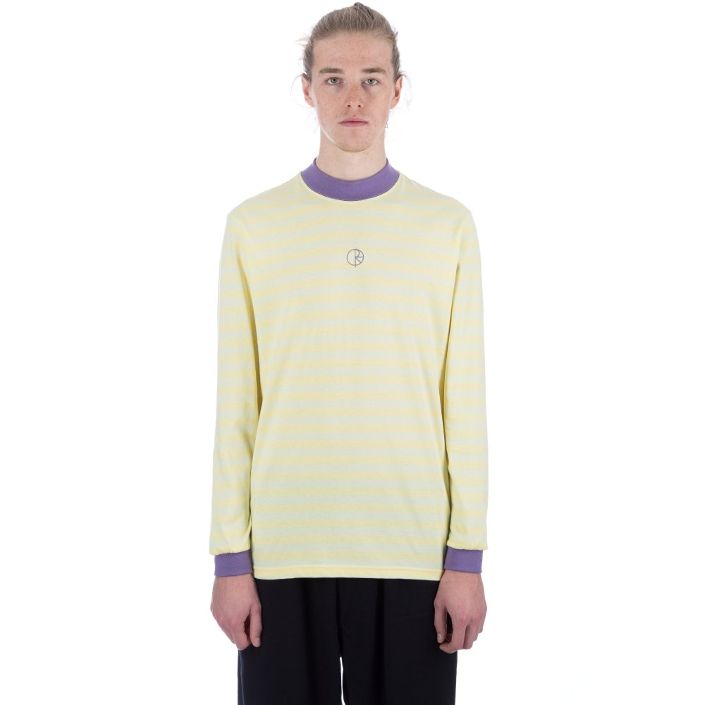 Polar Striped Mockneck Long Sleeve T-Shirt (Lime)