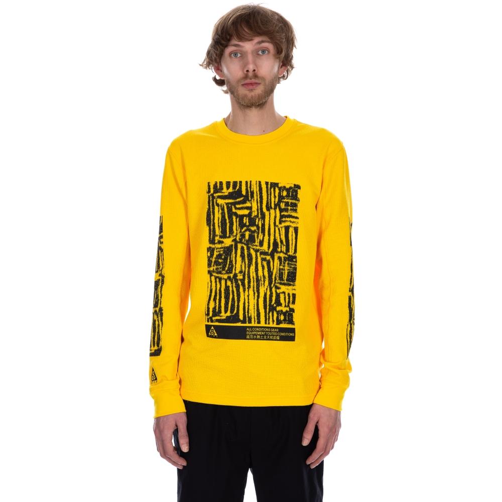Nike ACG Long Sleeve Waffle Shirt (Amarillo)