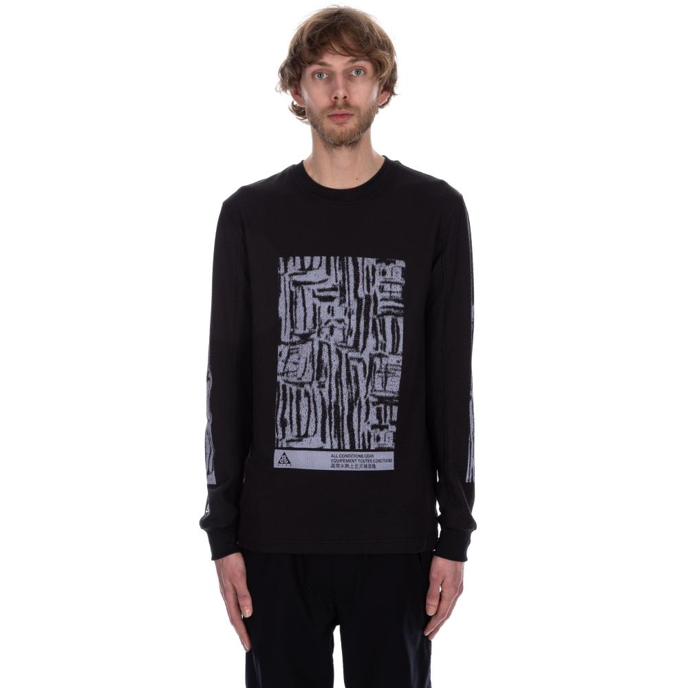 Nike ACG Long Sleeve Waffle Shirt (Black)