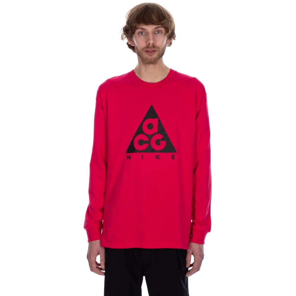 Nike ACG NRG Logo Long Sleeve T-Shirt (Rush Pink/Black)