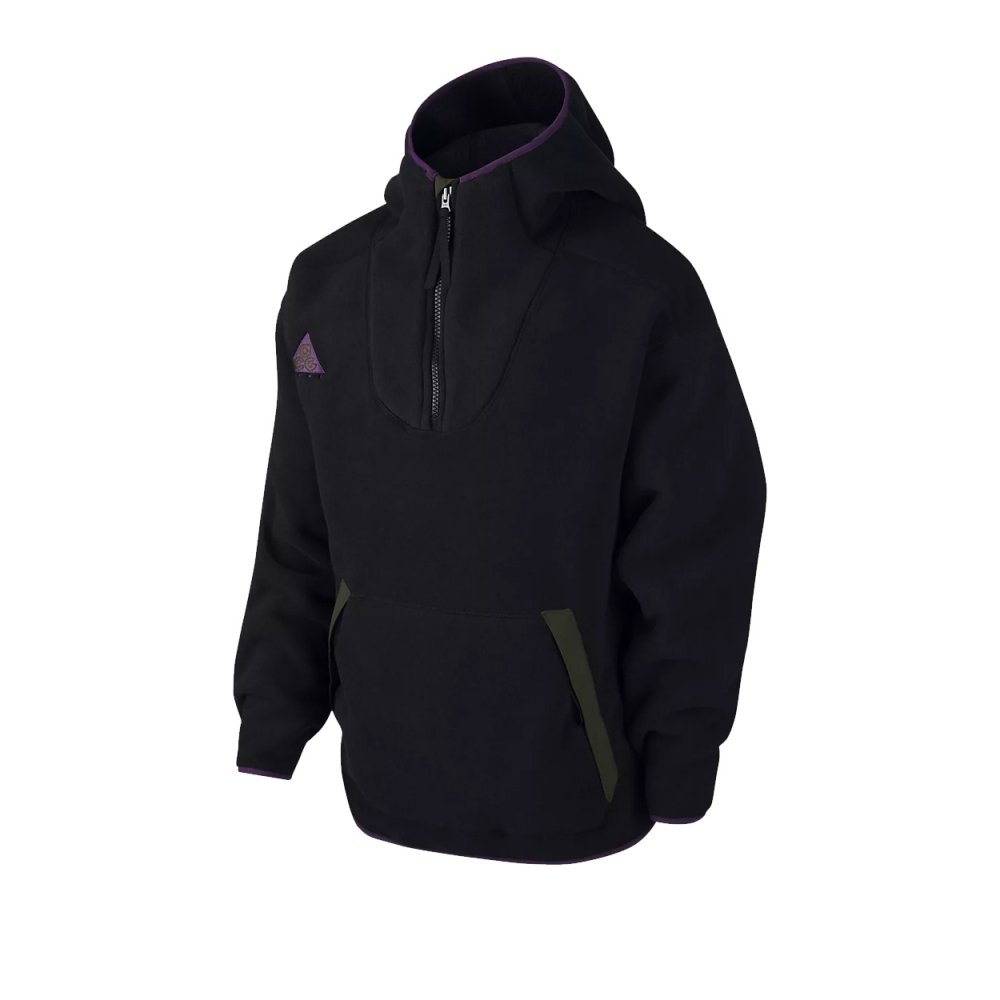 Nike ACG Sherpa Hooded Fleece (Black/Black)