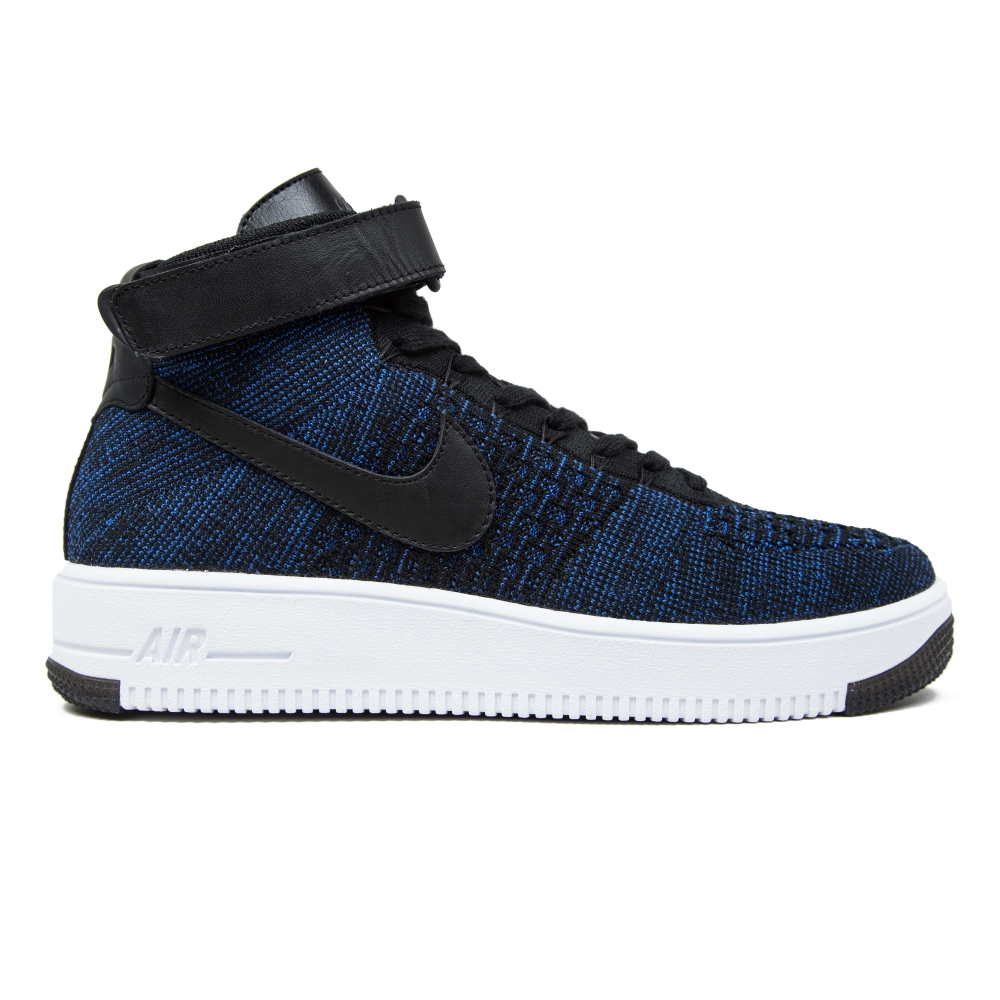 nike air force 1 ultra flyknit mid game royal black white consortium. Black Bedroom Furniture Sets. Home Design Ideas