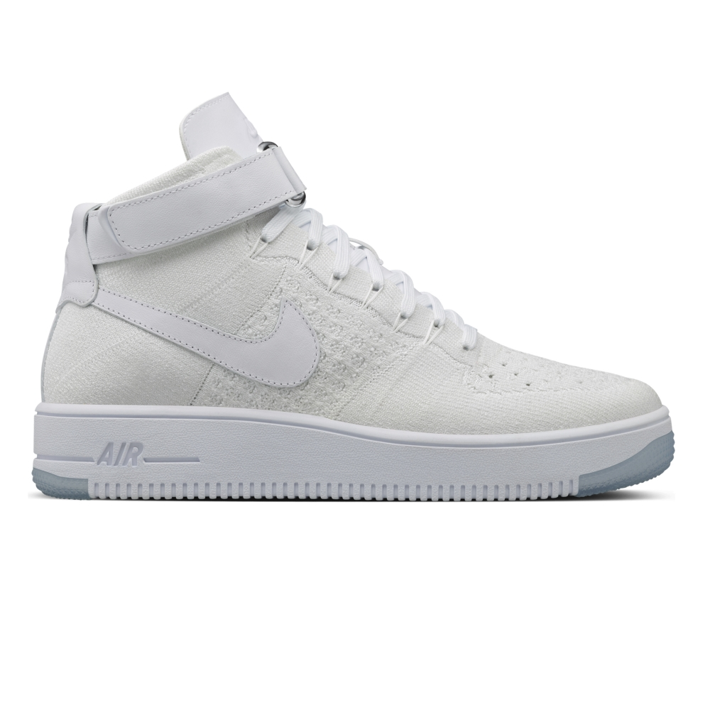 Nike Air Force 1 Ultra Flyknit Mid (White/White)