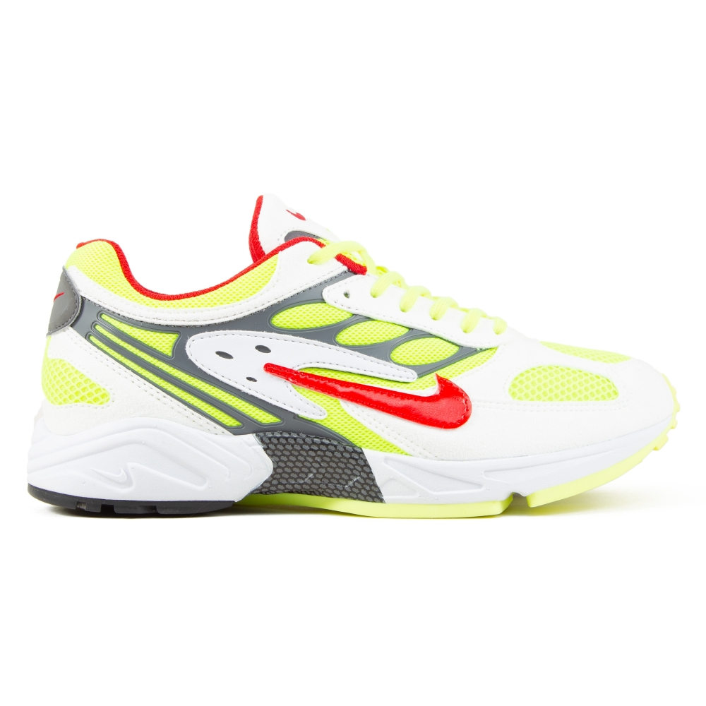 Nike Air Ghost Racer 'Neon Yellow' (White/Atom Red-Neon Yellow-Dark Grey)