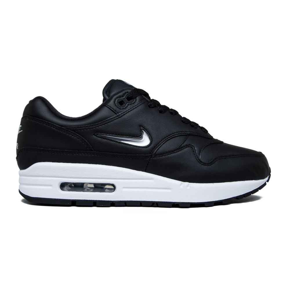 nike air max 1 premium sc 39 jewel 39 black metallic silver white consortium. Black Bedroom Furniture Sets. Home Design Ideas