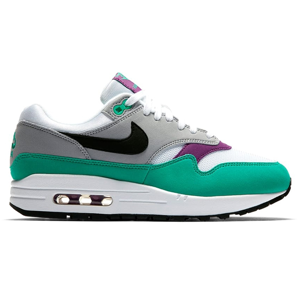 Nike Air Max 1 WMNS 'Clear Emerald' (White/Black-Wolf Grey-Clear Emerald)