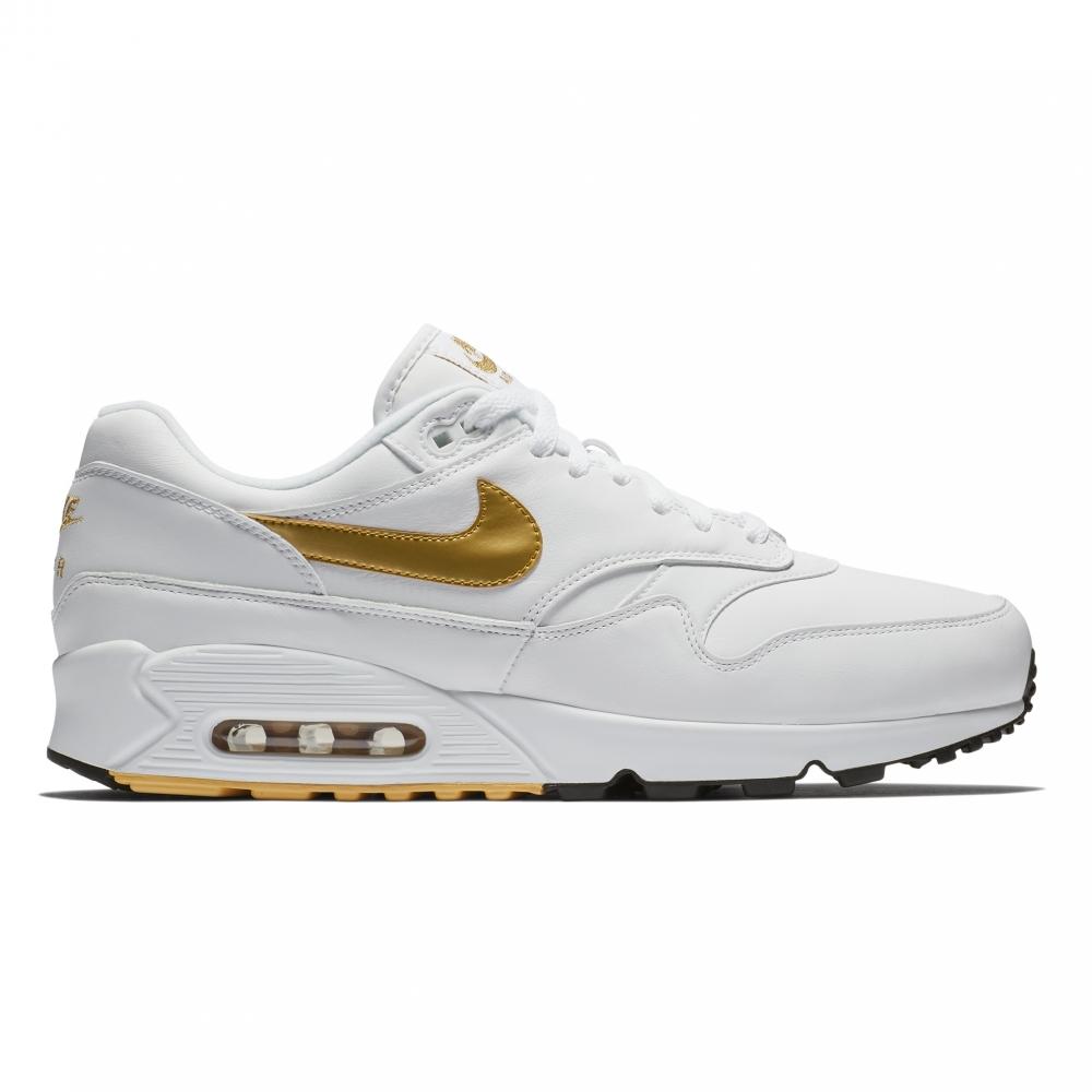 Nike Air Max 90/1 'Metallic Gold' (White/Metallic Gold-Black)