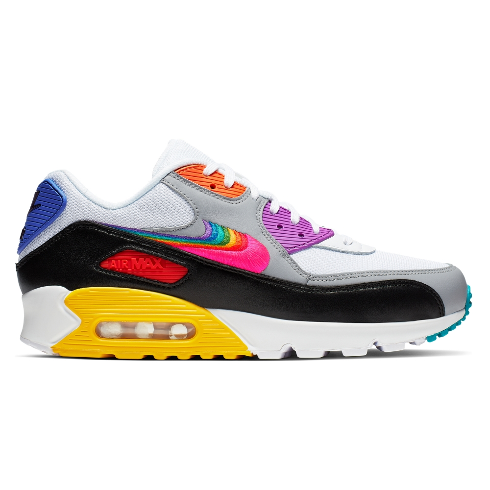 Nike Air Max 90 'Be True Collection' (White/Multi-Colour-Black-Wolf Grey)