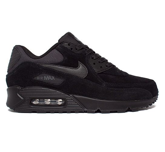 sudede black nikes air max 90