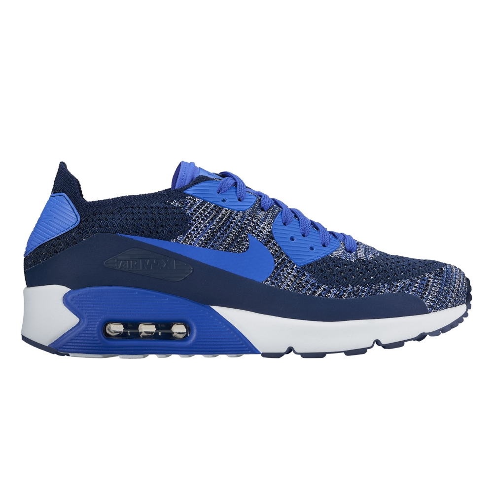 nike air max 90 ultra 2 0 flyknit college navy paramount blue white black consortium. Black Bedroom Furniture Sets. Home Design Ideas