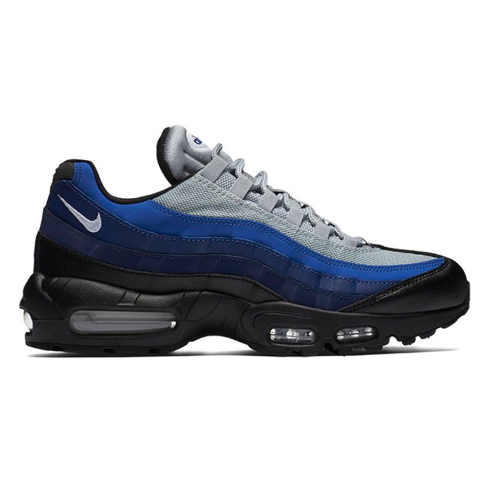 Nike Air Max 95 Essential (Black White-Binary Blue-Deep Royal ... b096ffbc3a13