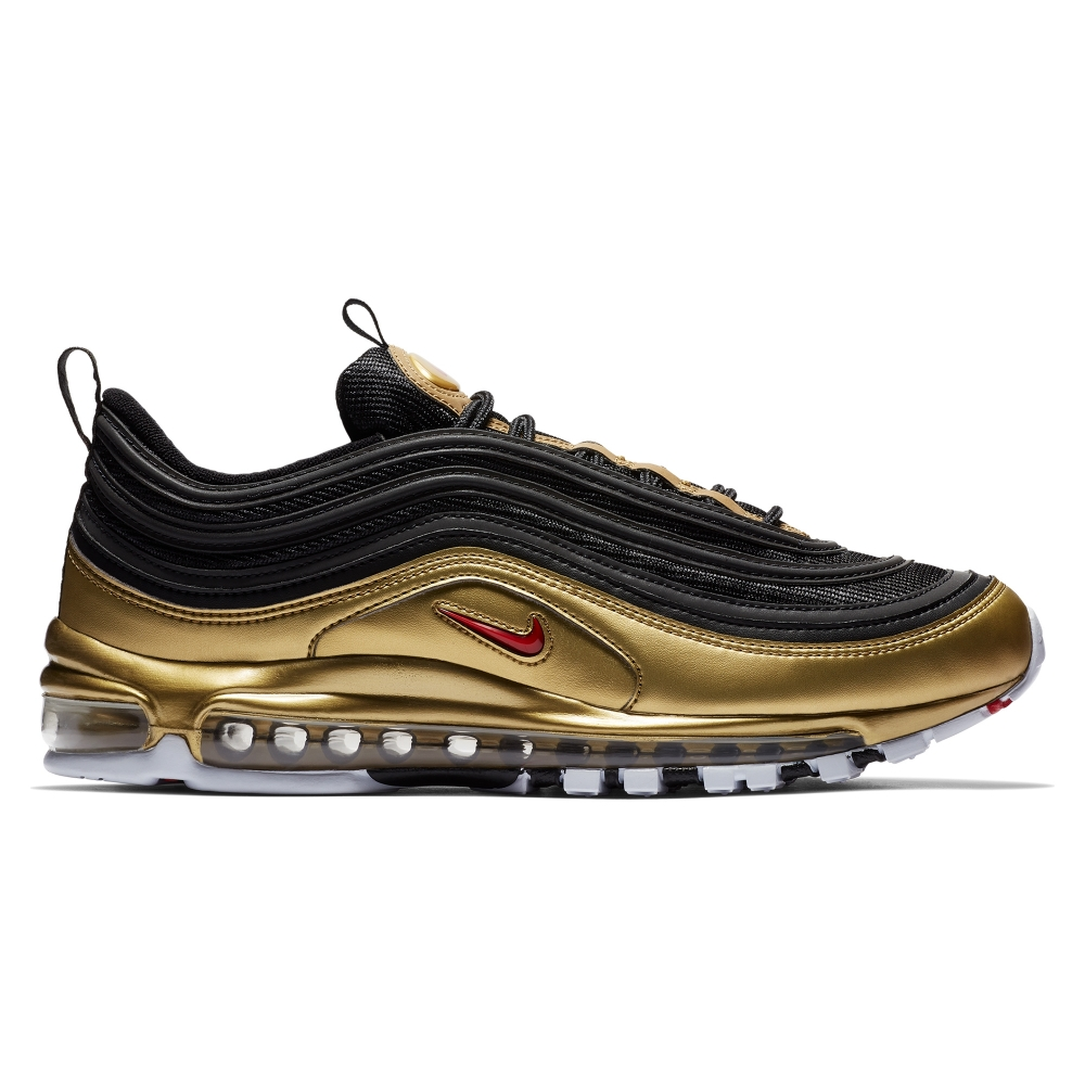 Nike Air Max 97 'B-Sides Metallic Pack' QS (Black/Varsity Red-Metallic Gold-White)