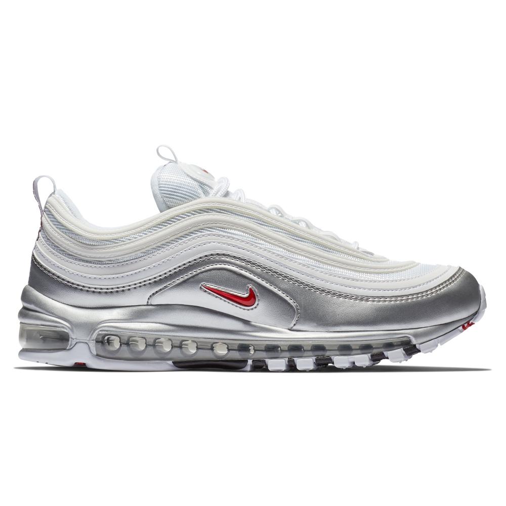 Nike Air Max 97 'B-Sides Metallic Pack' QS (White/Varsity Red-Metallic Silver-White)