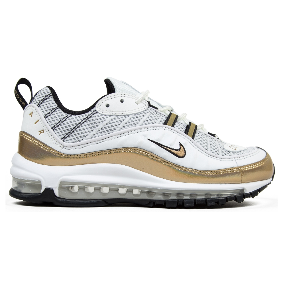 Nike Air Max 98 UK  GMT Pack  (Summit White Metallic Gold-Black ... 763050fcb