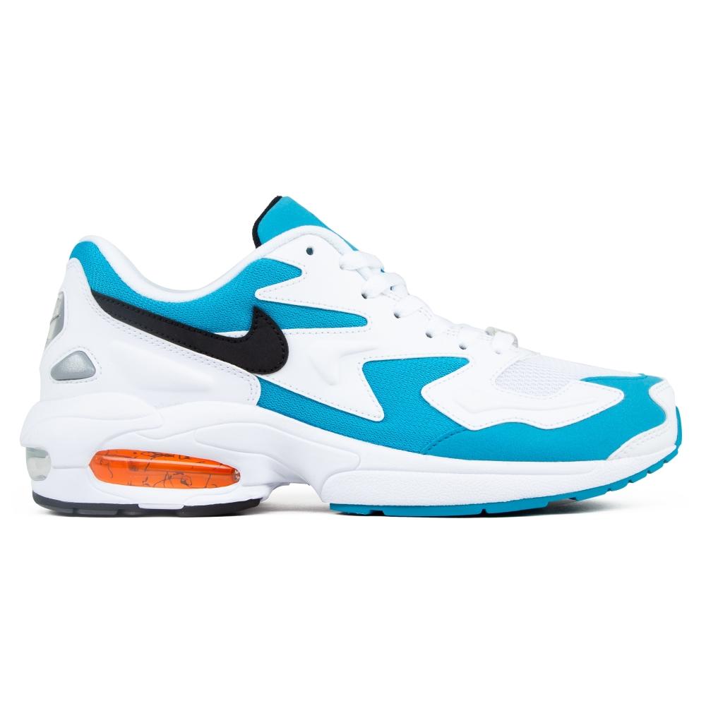 Nike Air Max2 Light OG 'Blue Lagoon' (White/Black-Blue Lagoon-Laser Orange)