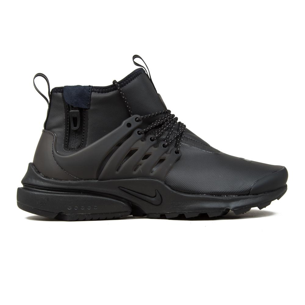 Nike Air Presto Mid Utility (Black/Black-Volt-Dark Grey)