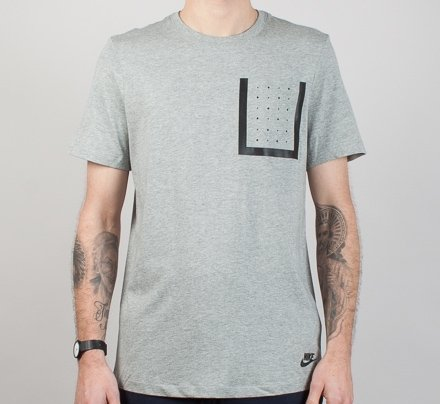 Nike Bonded Pocket Top T-shirt (Dark Heather Grey/Black)