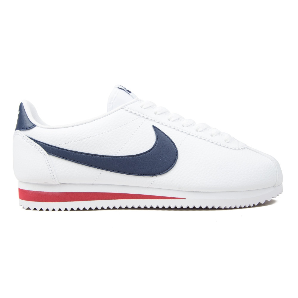 various colors de49c 69b5c Nike Classic Cortez Leather (White Midnight Navy Gym Red)