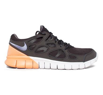 Nike Free Run 2 - Noir - Fer Violet - Orange, Atomique