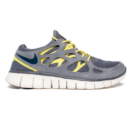 02b89b6f48eb ... canada nike free run 2 cool grey armory navy cool grey sonic yellow  0d426 1e9e3