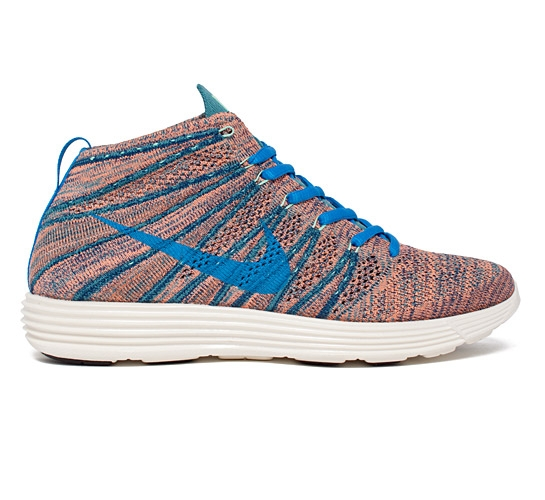 lowest price c56dc 947d7 Nike Lunar Flyknit Chukka (Brave Blue Photo Blue-Mineral Teal-Green Glow