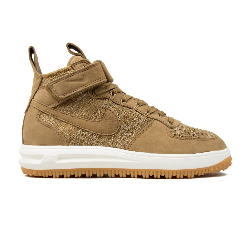 Nike Lunar Force 1 Flyknit Workboot (Golden Beige/Sail-Olive Flak)