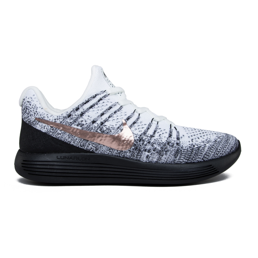 best service 298ae c773c Nike LunarEpic Low Flyknit 2 X-Plore (White Metallic Red Bronze-Black