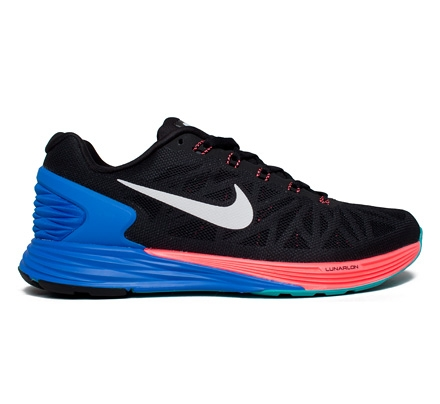 a776036ba876d Nike Lunarglide 6 (Black White-Hyper Cobalt-Hyper Punch) - Consortium
