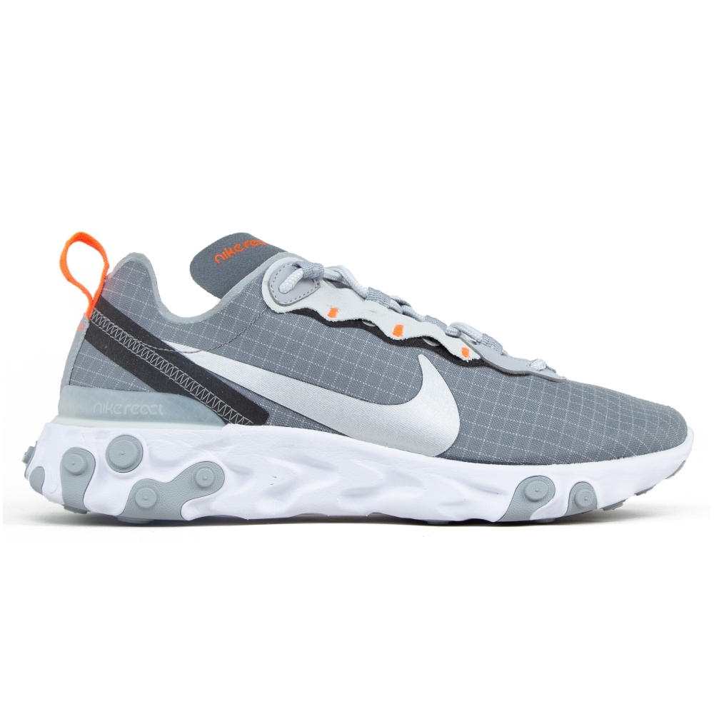Nike React Element 55 'Grey Grid' (Cool Grey/Metallic Silver-Hyper Crimson)