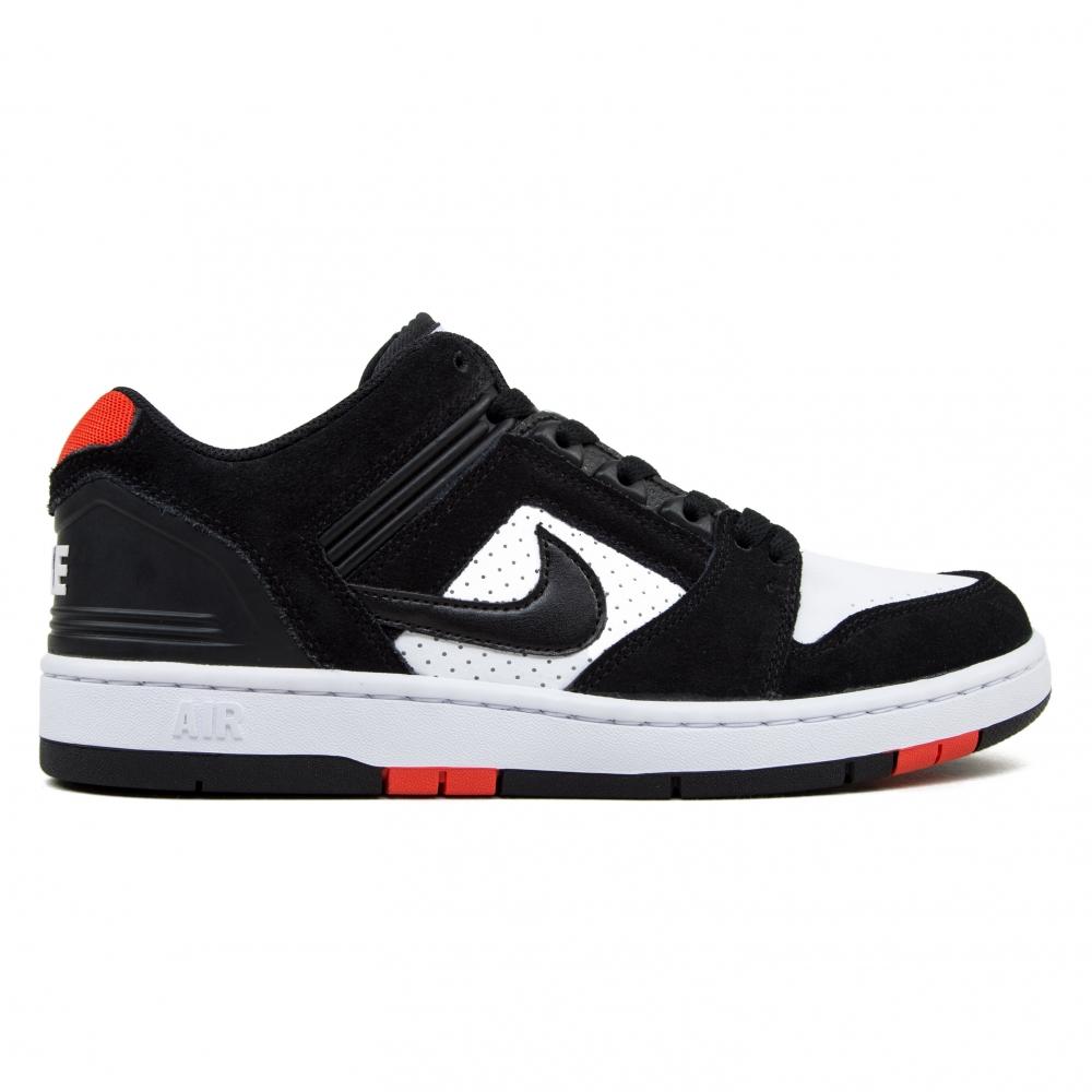 Nike SB Air Force II Low 'Bred' (Black/White-Habanero Red)