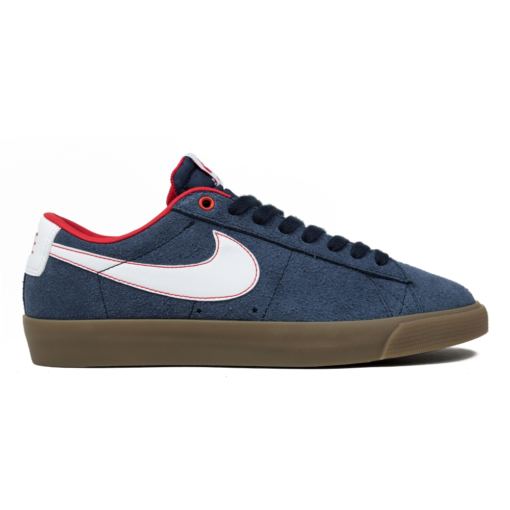 nike sb blazer obsidian/white/university red/metallic gold