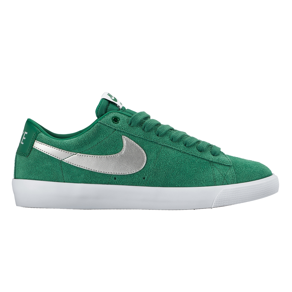 nike sb blazer low 39 grant taylor 39 pine green metallic. Black Bedroom Furniture Sets. Home Design Ideas