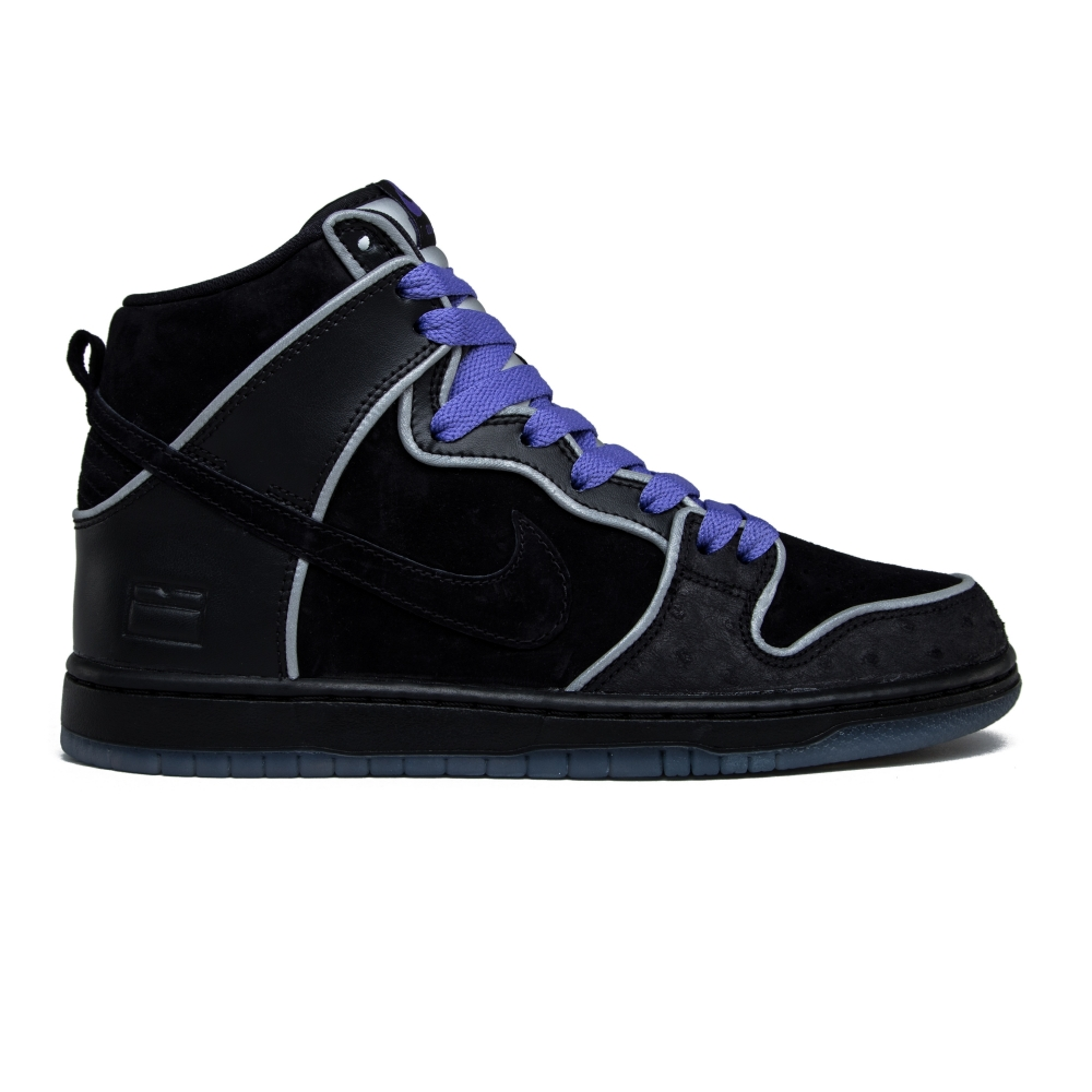 Nike SB Dunk High Elite 'Black Box' (Black/Black-White-Purple Haze)