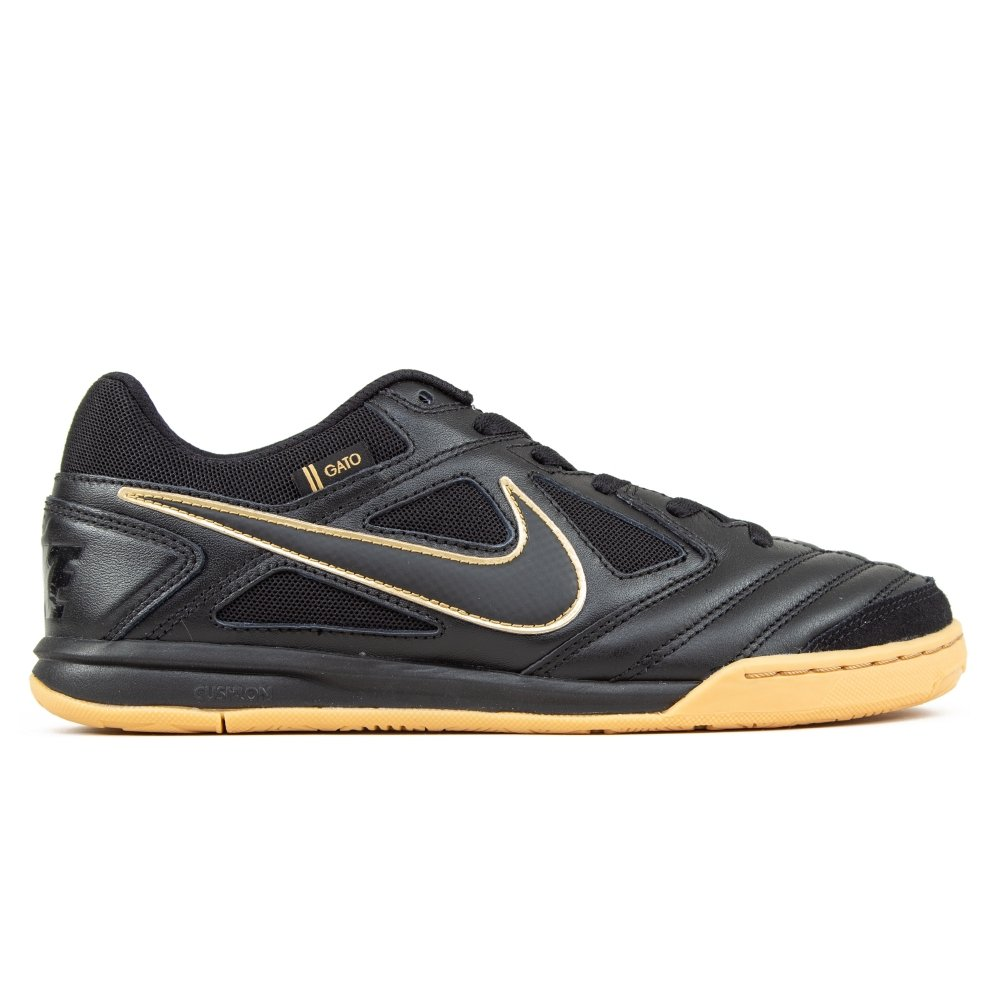 Nike SB Gato (Black/Black-Metallic Gold-Gum Yellow)