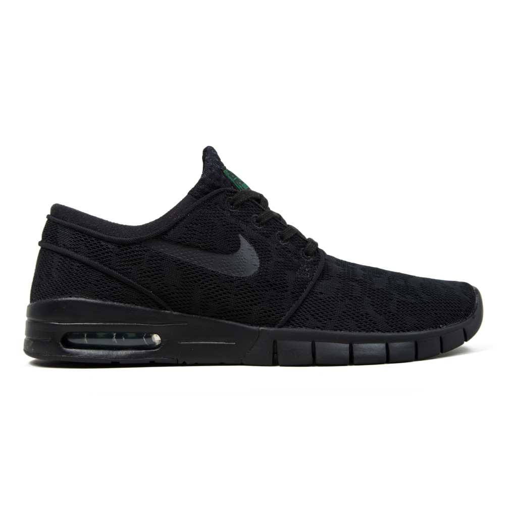 nike sb stefan janoski max black black pine green consortium. Black Bedroom Furniture Sets. Home Design Ideas