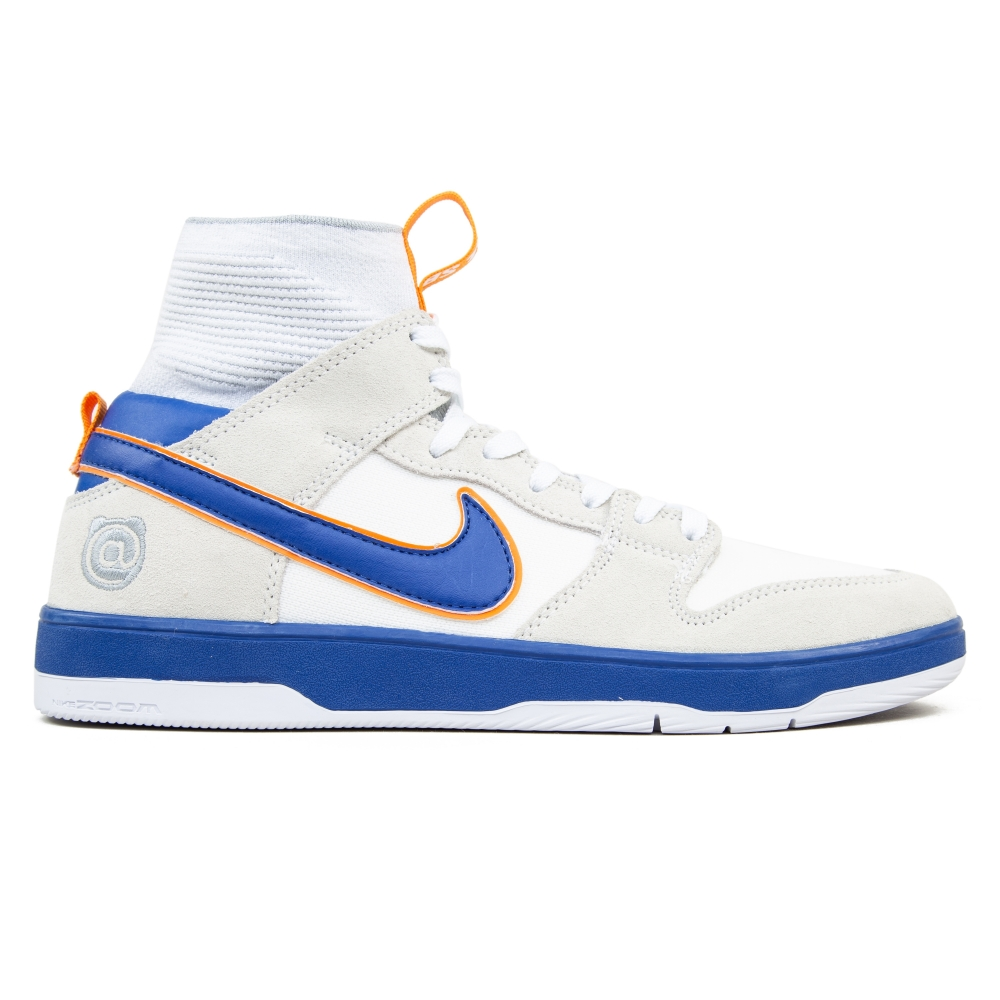 Nike SB x Medicom Zoom Dunk High Elite QS Be@rbrick (White/White/Gold Post/College Blue)