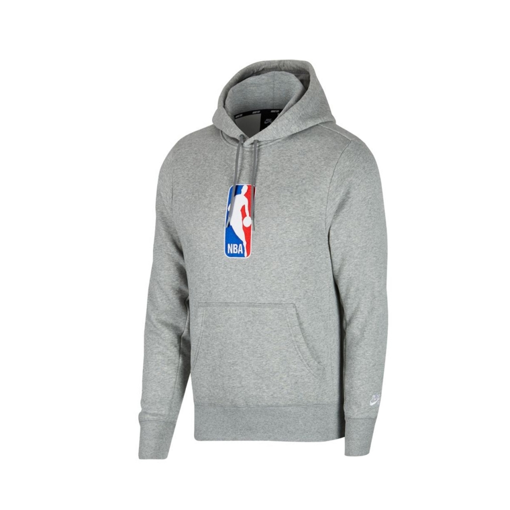 Nike SB x NBA Icon Pullover Hooded Sweatshirt (Dark Grey Heather/White)