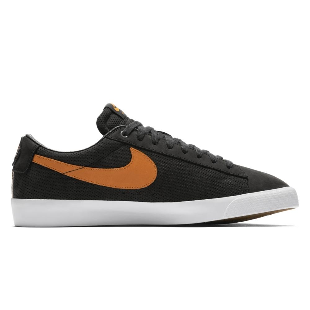 Nike SB Zoom Blazer Low GT 'Cat's Paw' QS (Black/Vivid Orange-White)