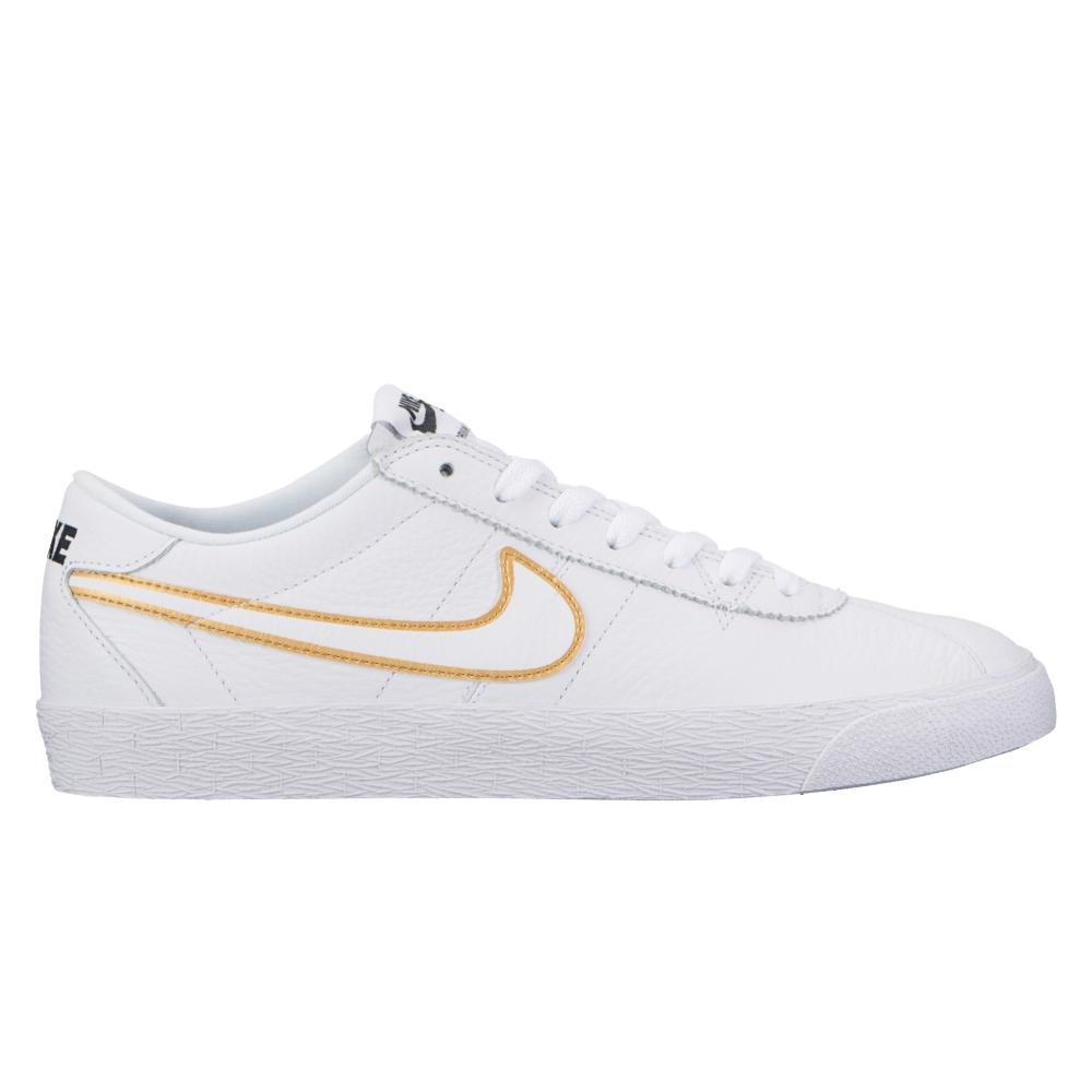 Nike SB Zoom Bruin Premium SE (White/White-Metallic Gold-Black)