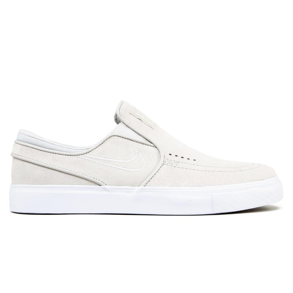 Nike SB Zoom Stefan Janoski Slip-On (White/Light Bone/White)