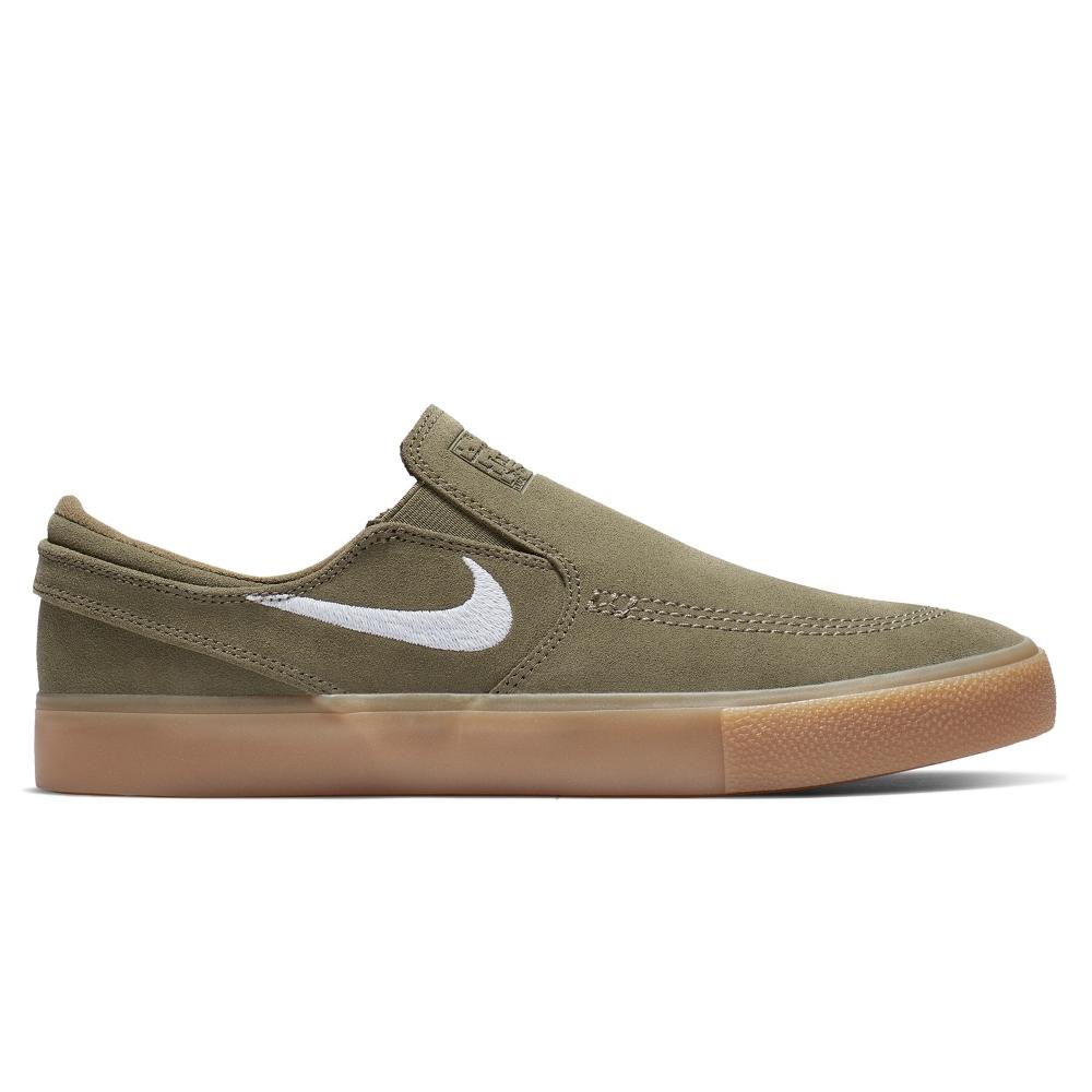 Nike SB Zoom Stefan Janoski Slip RM (Medium Olive/White-Medium Olive)