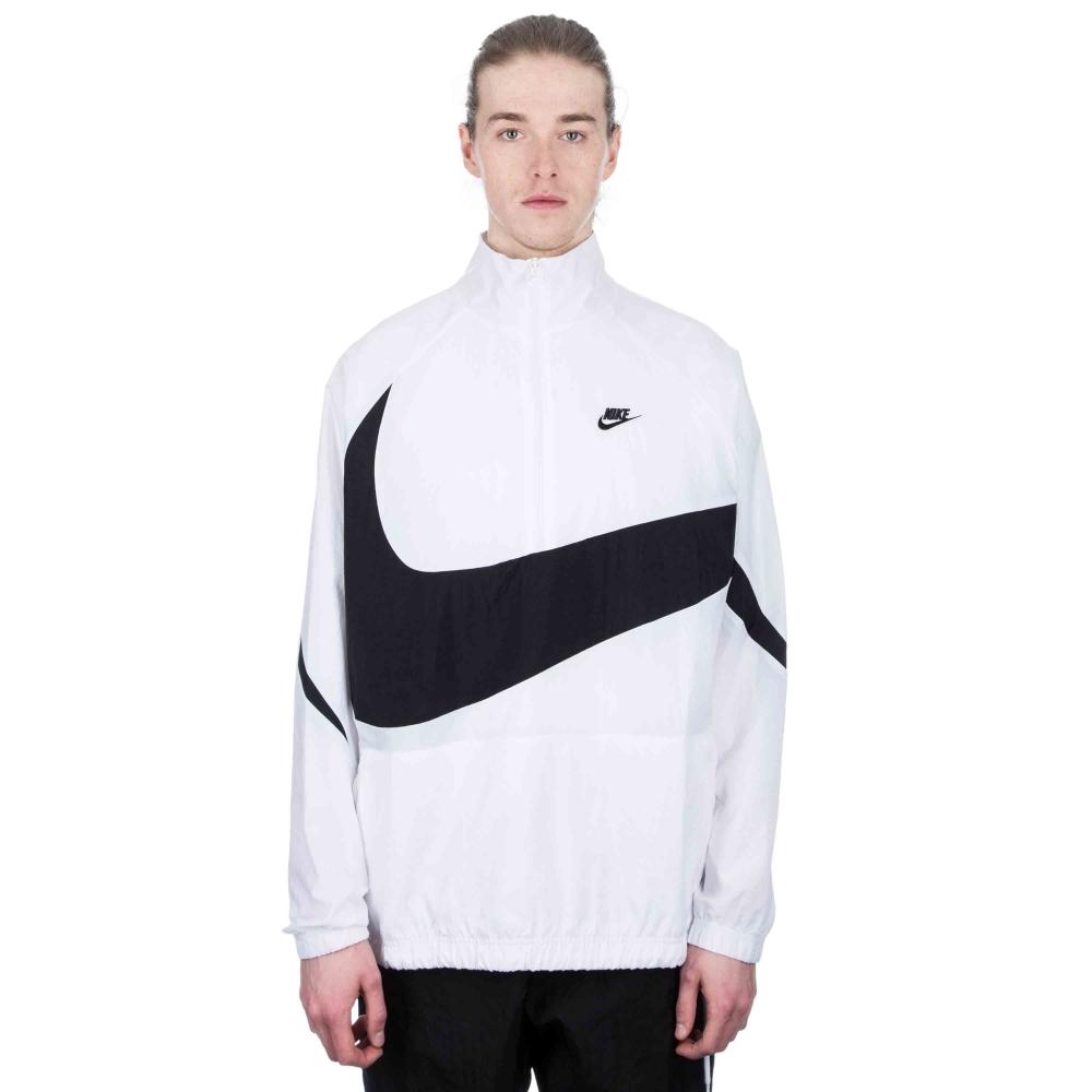 5388e7b2f07b Nike Swoosh Woven Half-Zip Jacket (White White Black) - Consortium.