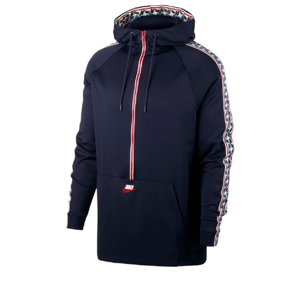 nike taped half zip poly herren hoodies