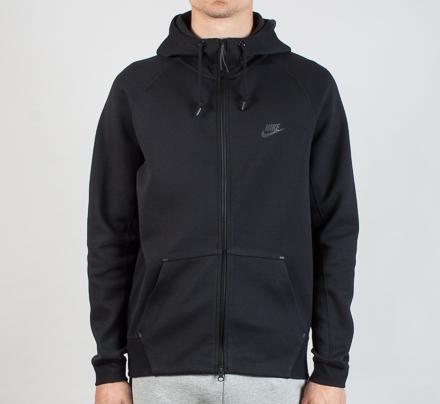 ee8d67ad5761 Nike Tech Fleece AW77 1.0 Zip Hooded Sweatshirt (Black Black ...