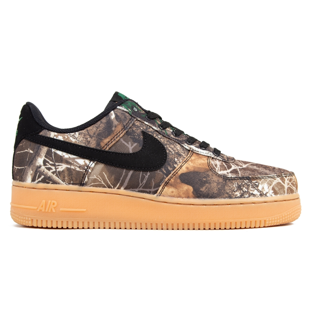 Nike Air Force 1 '07 LV8 3 'Realtree Camo Pack' (Black/Black-Aloe Verde-Gum Medium Brown)