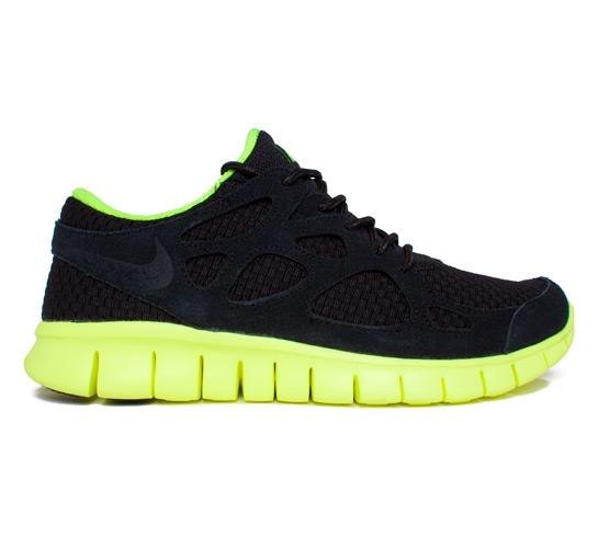 Nike Free Run+ 2 Woven (Black Black-Volt) - Consortium. c2c1cf1d0