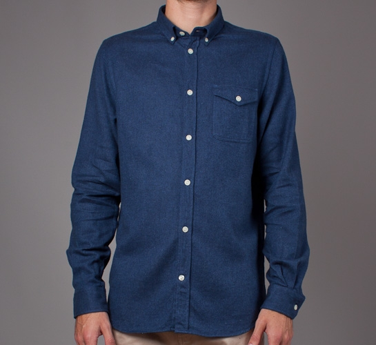 62e8f4f63bd Norse Projects Anton Brushed Shirt (Indigo) - Consortium.