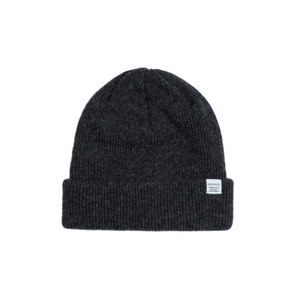 Norse Projects Beanie (Charcoal Melange)